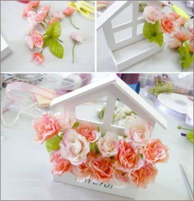 làm bồn hoa cúc xinh xắn