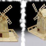 Cách làm cối xay gió bằng que kem gỗ handmade