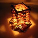 Hướng dẫn làm đèn ngủ từ que kem gỗ