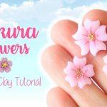 Hướng dẫn làm hoa anh đào bằng đất sét Nhật