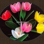 Hướng dẫn làm hoa tulip trang trí nhà