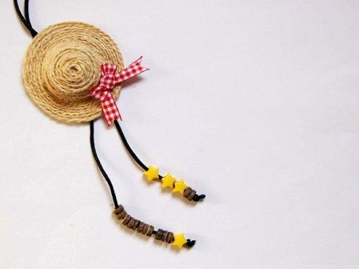 làm móc khóa hình mũ bằng dây thừng