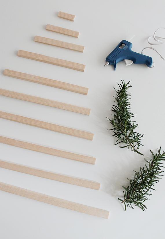 làm cây thông noel từ que kem gỗ