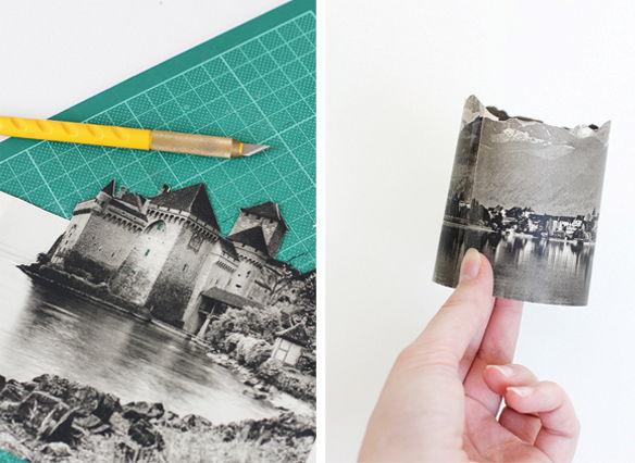 cách làm đèn ngủ bằng giấy hình ngôi nhà