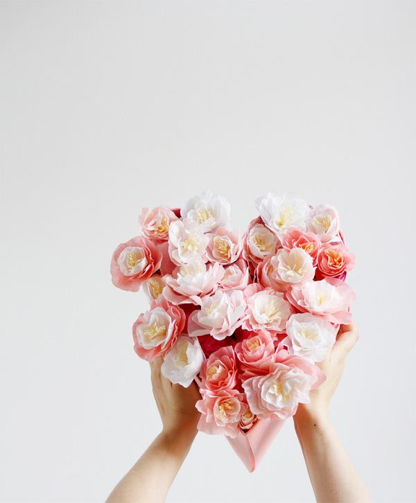 làm quà tăng bạn gái bằng hoa giấy