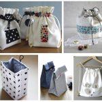 Hướng dẫn làm túi đựng đồ từ vải vụn trong nhà
