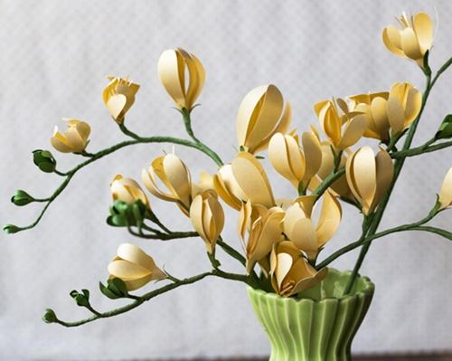 cách làm hoa giấy đơn giản