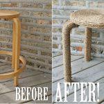 Cách trang trí ghế cũ thành ghế mới bằng dây thừng