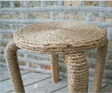 trang trí ghế bằng dây thừng