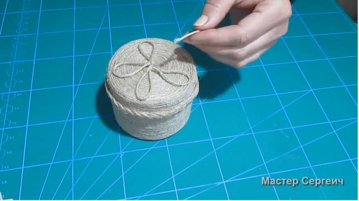 trang trí hộp quà bằng dây thừng