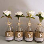 """Cách trang trí lọ hoa """"LOVE"""" bằng dây thừng"""