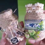 Cách trang trí lọ thủy tinh đơn giản với dây thừng