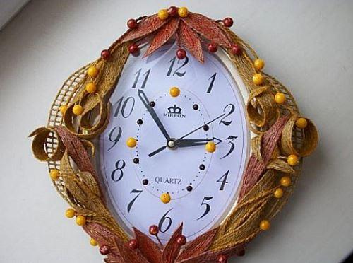cách trang trí đồng hồ treo tường bằng dây thừng