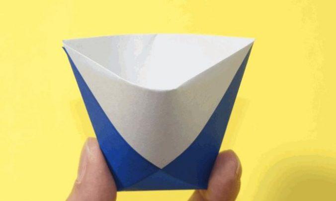 cách gấp chiếc cốc đơn giản