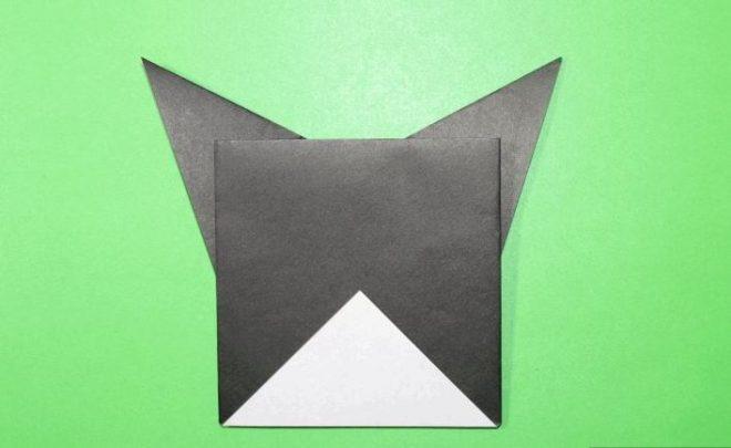 cách gấp con boston terrier origami