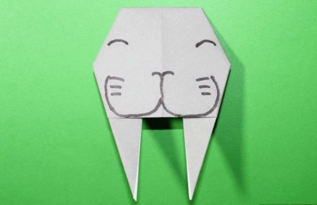 cách gấp con hà mã origami