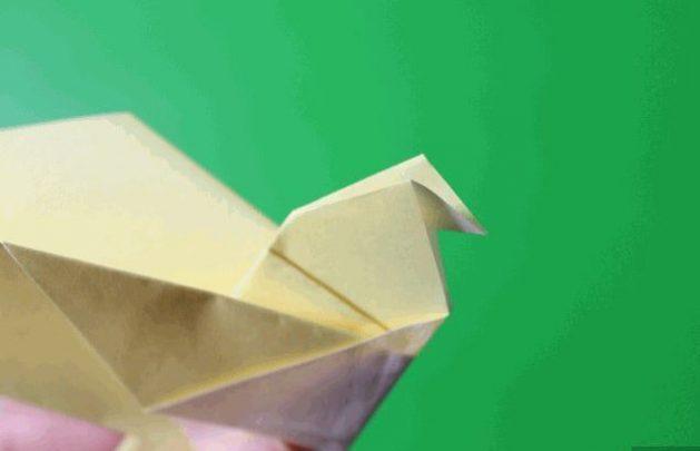 cách gấp hình con chim origami