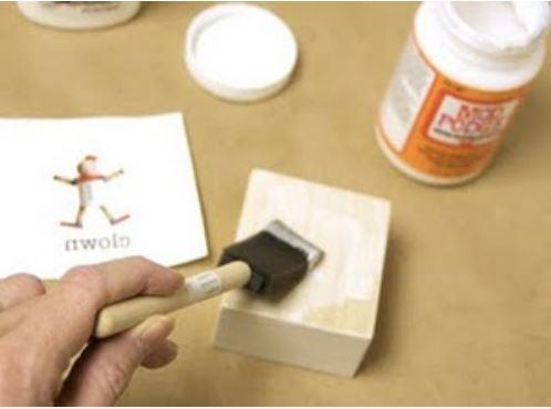 cách in ảnh lên gỗ bằng keo nến