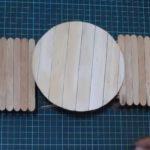 Hướng dẫn làm bàn hình tròn từ que kem gỗ