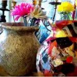 Hướng dẫn làm bình hoa từ giấy báo và keo sữa