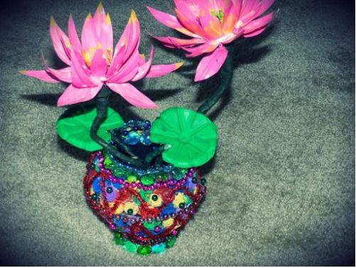 cách làm bình hoa từ vỏ dừa