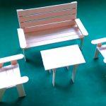Hướng dẫn làm bộ bàn ghế từ que kem gỗ