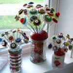 Hướng dẫn cách làm bông hoa đơn giản từ cúc áo