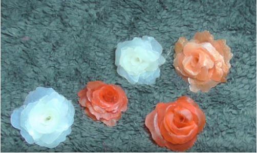 cách làm bông hoa bằng keo nến