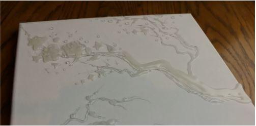 cách làm bức tranh cây mai bằng keo nến