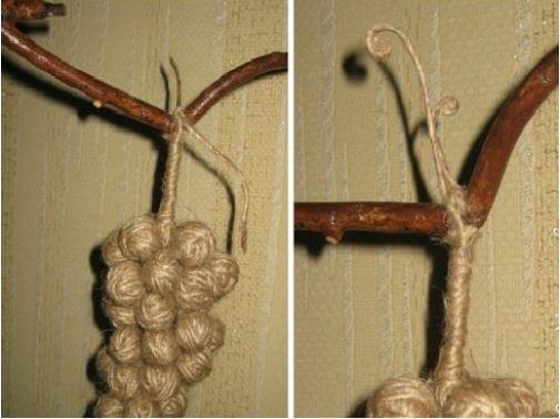 cách làm cành nho bằng dây thừng