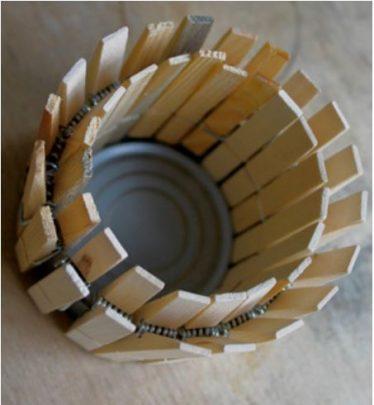 cách làm châu cây từ kẹp gỗ