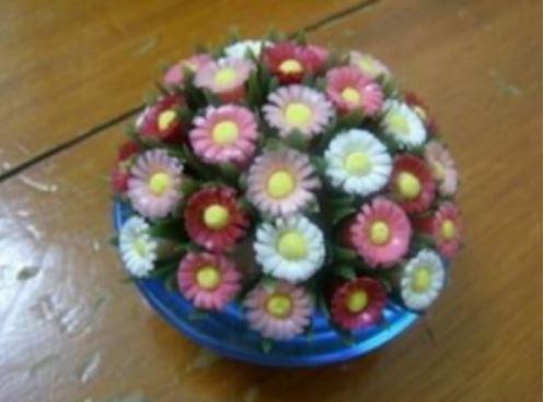 cách làm chậu hoa bằng ống hút