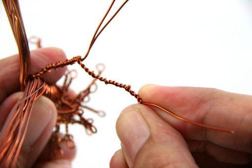 cách làm chậu hoa từ dây đồng