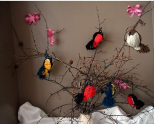 cách làm chim từ len vô cùng đẹp