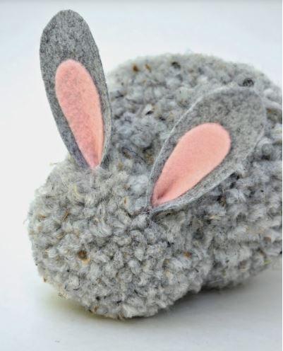 cách làm chú thỏ bằng len