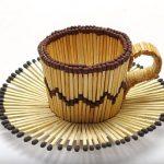 Hướng dẫn làm cốc cà phê từ que diêm