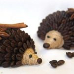 Hướng dẫn làm con Nhím từ dây thừng và hạt cà phê