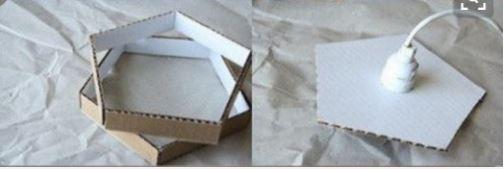 cách làm đèn chụp treo nhà bằng giấy