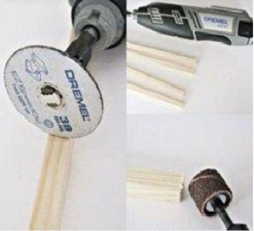 cách làm đèn để bàn bằng que kem gỗ