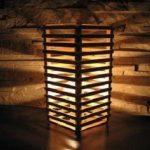 Hướng dẫn làm đèn để bàn bằng que kem gỗ