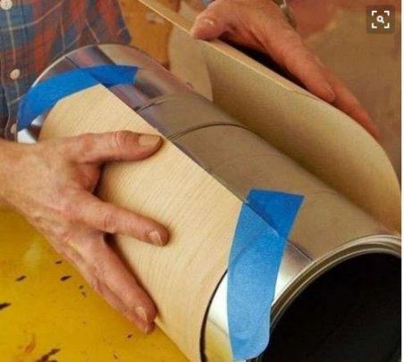 cách làm đèn ống treo nhà bằng giấy
