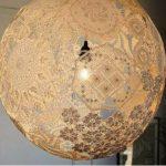 Hướng dẫn cách làm đèn treo tường từ vải ren