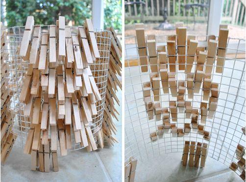 cách làm đèn treo độc đáo từ kẹp gỗ