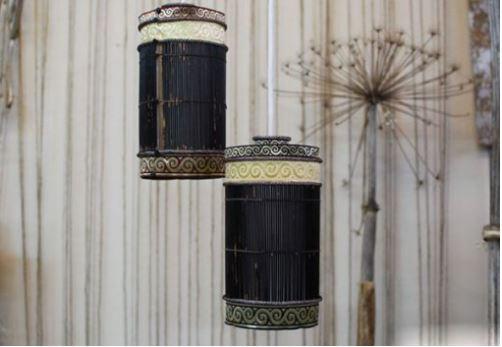 cách làm đèn treo từ tăm tre