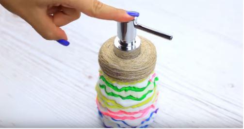 cách làm đồ dùng nhà tắm bằng dây thừng