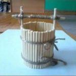 Hướng dẫn làm gáo múc nước đơn giản từ tăm tre