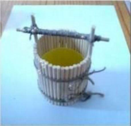 cách làm gáo múc nước bằng tăm tre