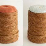 Hướng dẫn làm ghế từ thùng nhựa và dây thừng