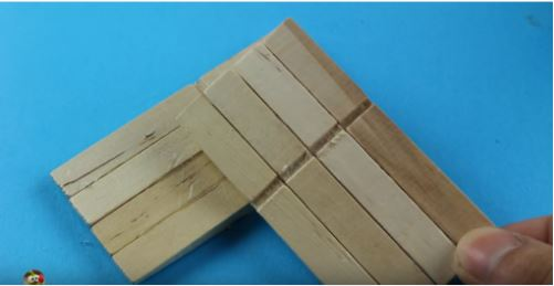 cách làm giếng mô hình bằng que gỗ