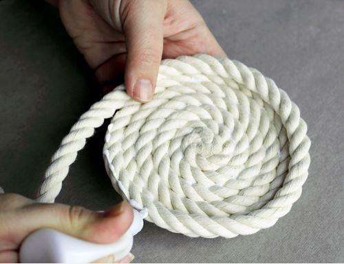 cách làm giỏ đựng bằng dây thừng